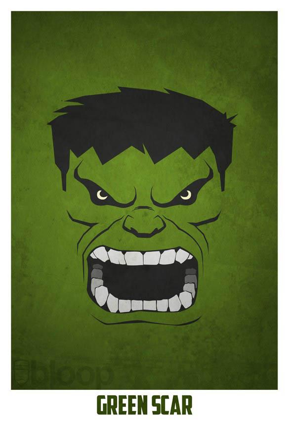 superheroes and villains minimal art posters by bloop 29 Minimalist Superheroes and Villains Posters