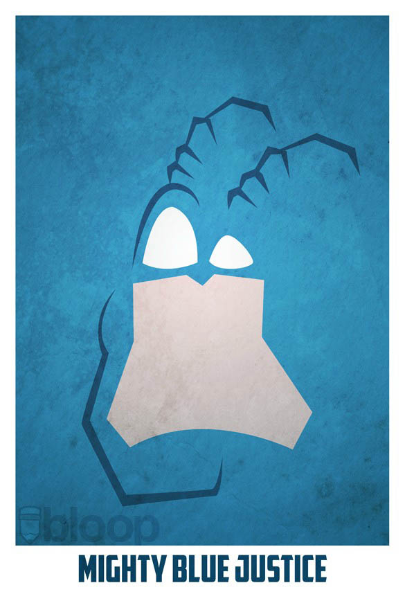 superheroes and villains minimal art posters by bloop 3 Minimalist Superheroes and Villains Posters