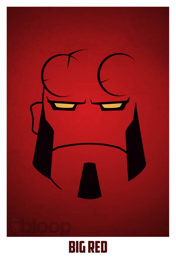 superheroes and villains minimal art posters by bloop 30 Minimalist Superheroes and Villains Posters