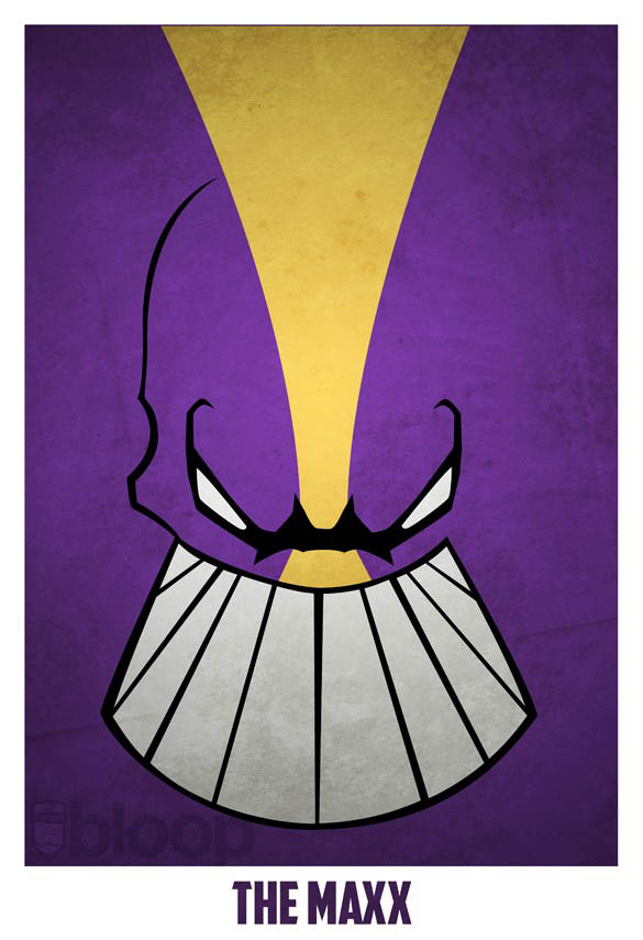 superheroes and villains minimal art posters by bloop 32 Minimalist Superheroes and Villains Posters