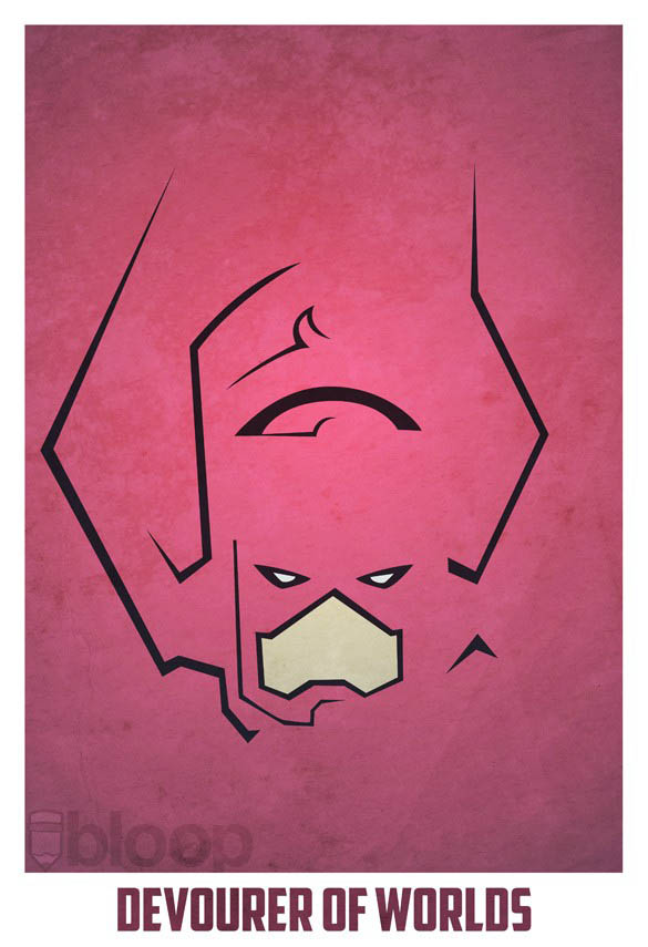 superheroes and villains minimal art posters by bloop 35 Minimalist Superheroes and Villains Posters