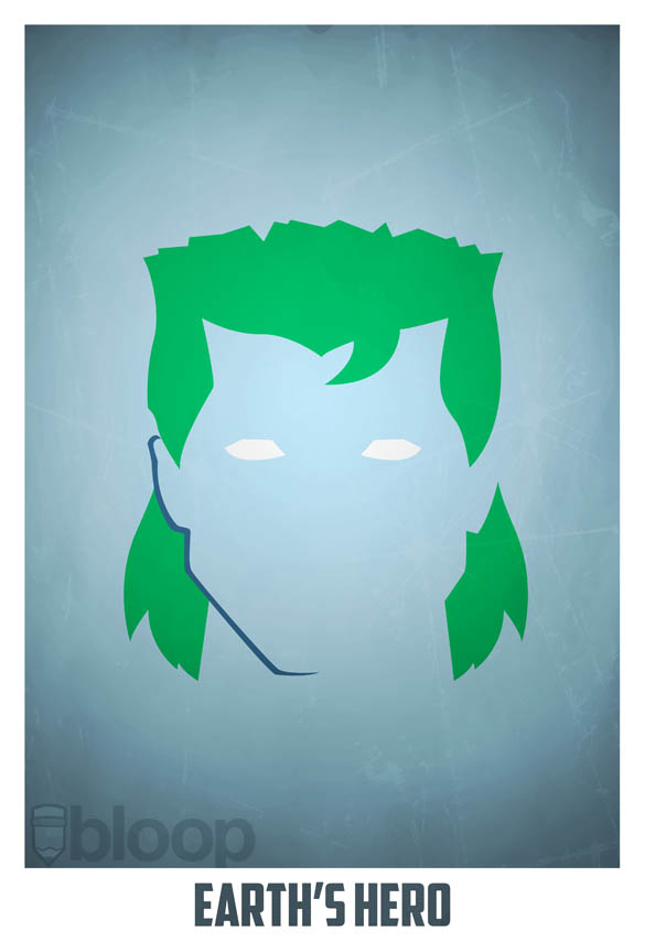superheroes and villains minimal art posters by bloop 37 Minimalist Superheroes and Villains Posters