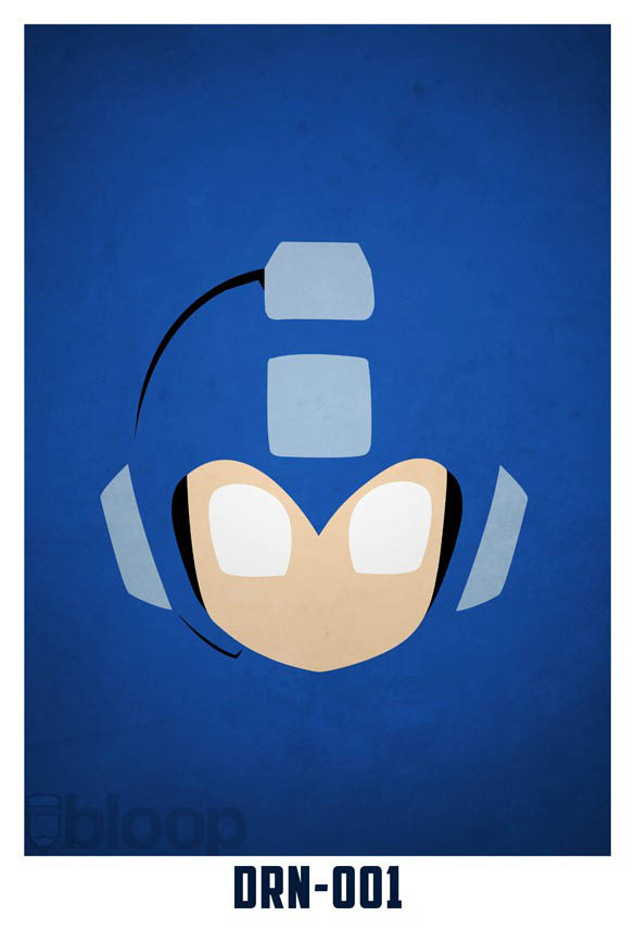 superheroes and villains minimal art posters by bloop 5 Minimalist Superheroes and Villains Posters