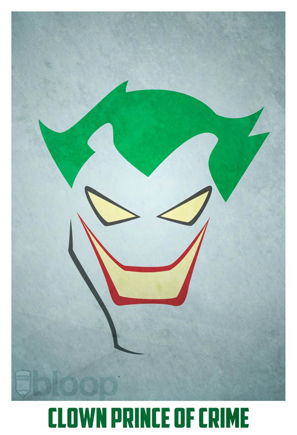 superheroes and villains minimal art posters by bloop 8 Minimalist Superheroes and Villains Posters