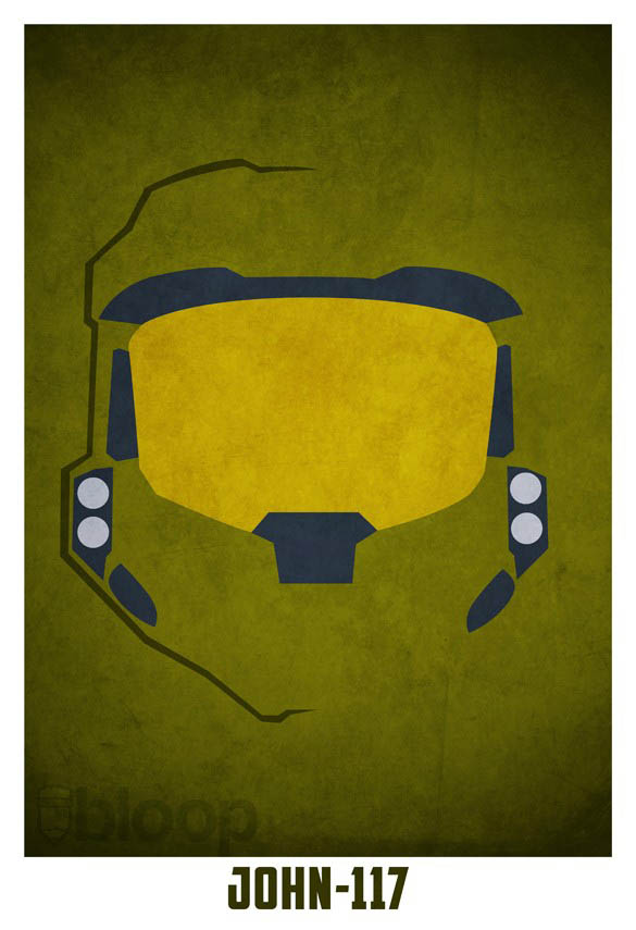 superheroes and villains minimal art posters by bloop 9 Minimalist Superheroes and Villains Posters