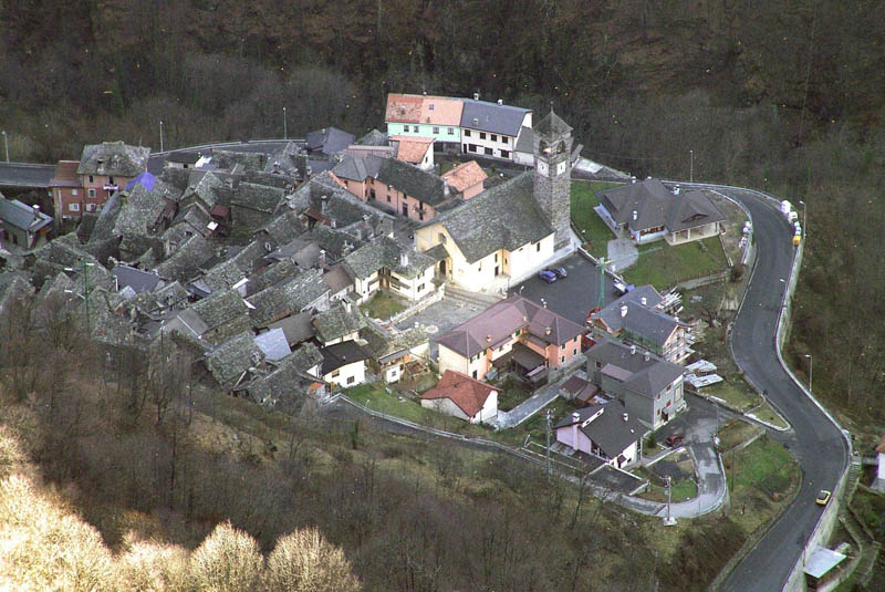 viganella italy aerial from above Italian Village Builds Giant Mirror to Combat 83 Days of Darkness