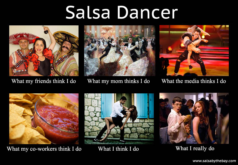 what my friends think i do what i actually do salsa dancer Top 10 What My Friends Think I Do vs What I Actually Do Posters
