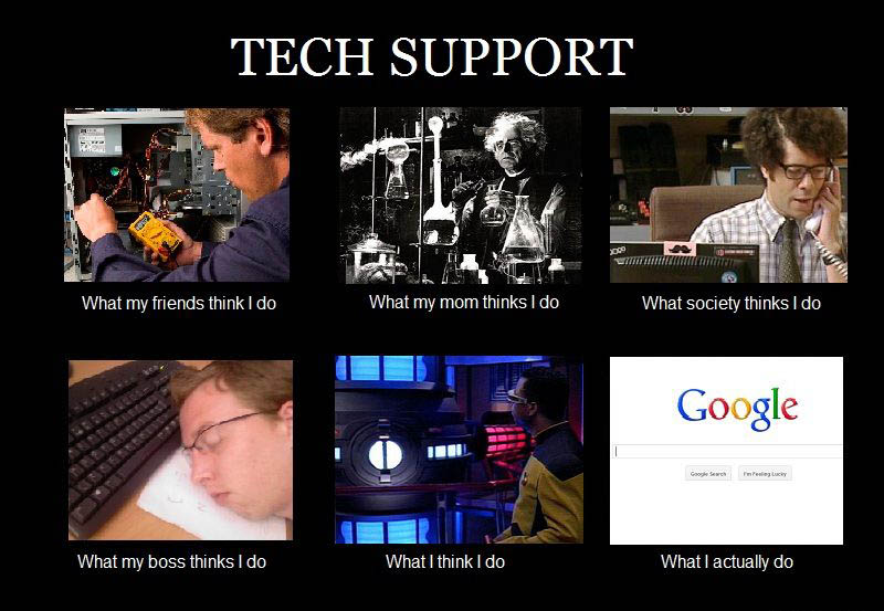 what my friends think i do what i actually do tech support Top 10 What My Friends Think I Do vs What I Actually Do Posters