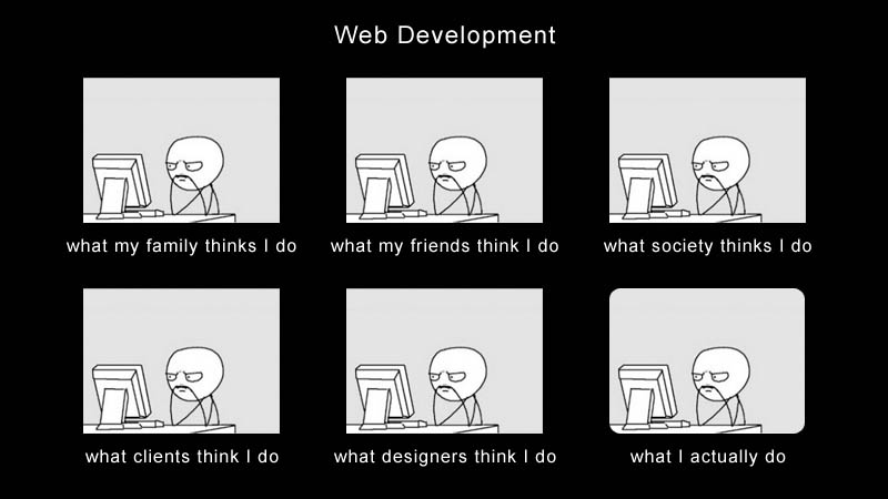 what my friends think i do what i actually do web developer Top 10 What My Friends Think I Do vs What I Actually Do Posters