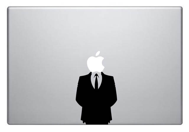 anonymous macbook decal sticker 50 Creative MacBook Decals and Stickers
