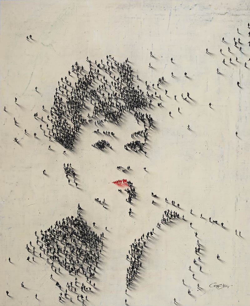 audrey hepburn people pixel portrait from above The Top 75 Pictures of the Day for 2012