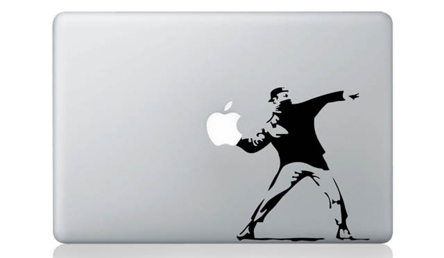 banksy macbook decal sticker 1 50 Creative MacBook Decals and Stickers