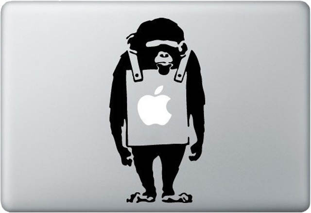 banksy macbook decal sticker 2 50 Creative MacBook Decals and Stickers