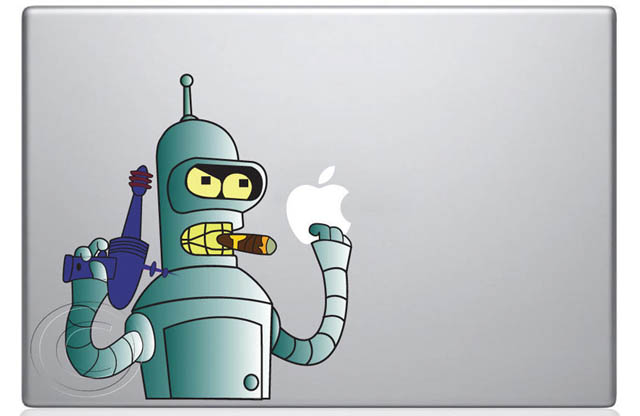 bender macbook decal sticker 50 Creative MacBook Decals and Stickers