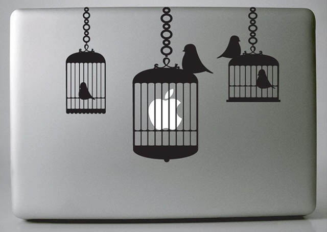 bird cages macbook decal sticker 50 Creative MacBook Decals and Stickers