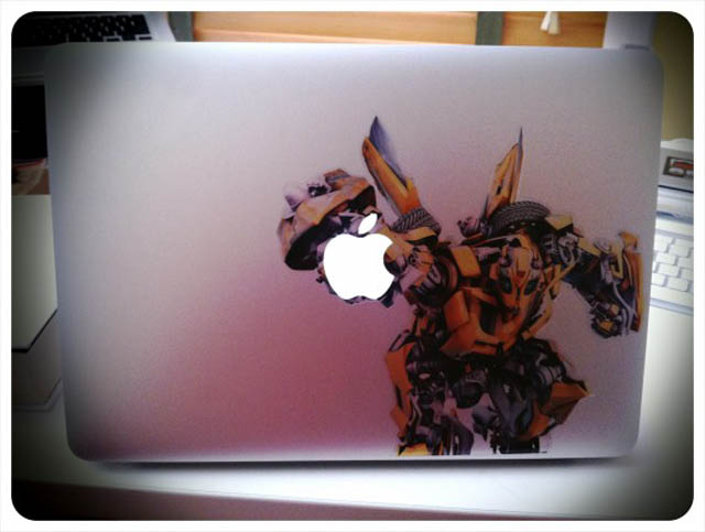 bumblebee macbook decal sticker 50 Creative MacBook Decals and Stickers