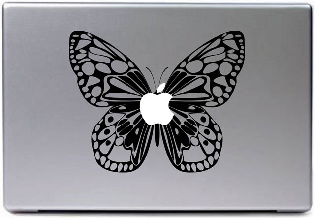 butterfly macbook decal sticker 50 Creative MacBook Decals and Stickers