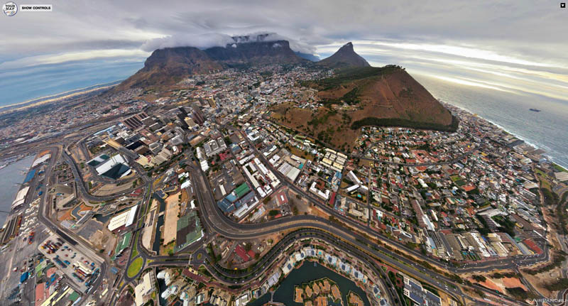cape town south africa from above aerial panorama 2 Top Ten 360 Panoramas of Cities Around the World