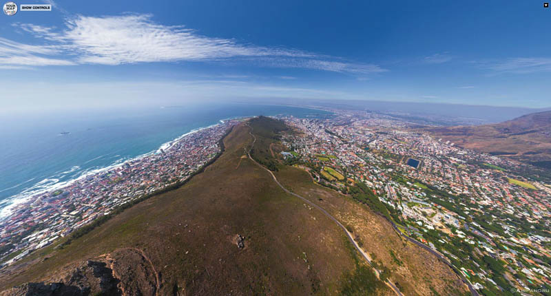 cape town south africa from above aerial panorama 3 Top Ten 360 Panoramas of Cities Around the World