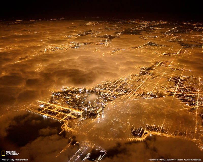 Picture Of The Day: Chicago City Lights At Night