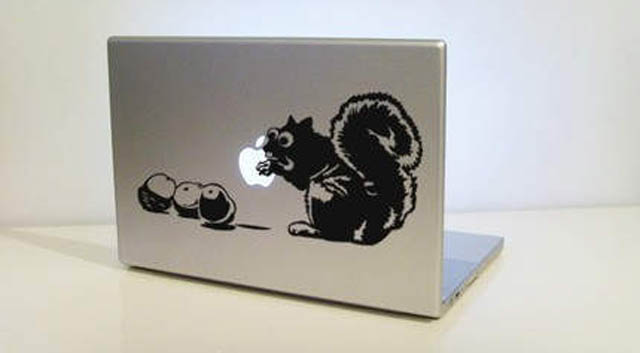 chipmunk 2 macbook decal sticker 50 Creative MacBook Decals and Stickers