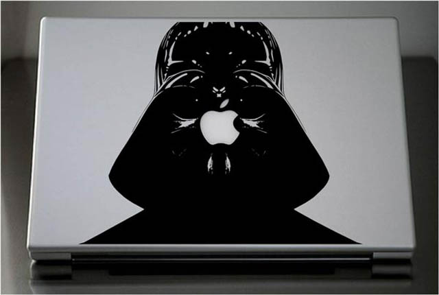 darth vader macbook decal sticker 1 50 Creative MacBook Decals and Stickers
