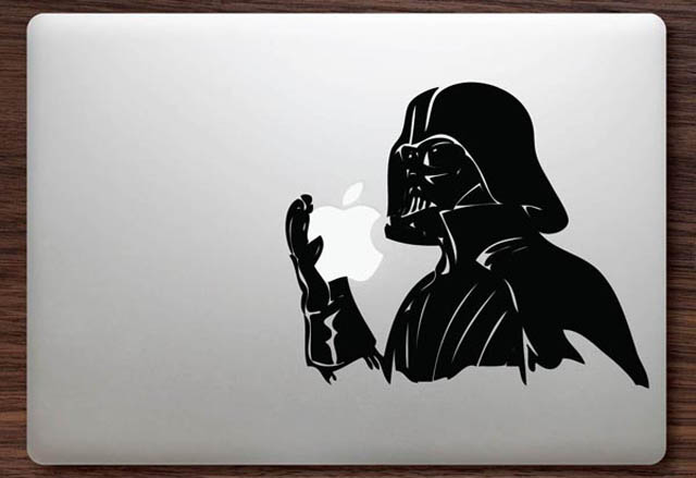 darth vader macbook decal sticker 2 50 Creative MacBook Decals and Stickers