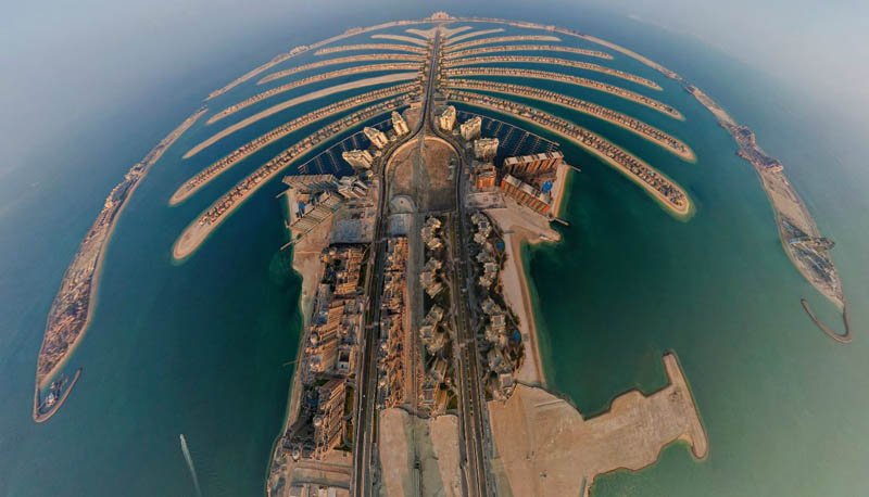 dubai uae aerial panoramic from above 3 Top Ten 360 Panoramas of Cities Around the World