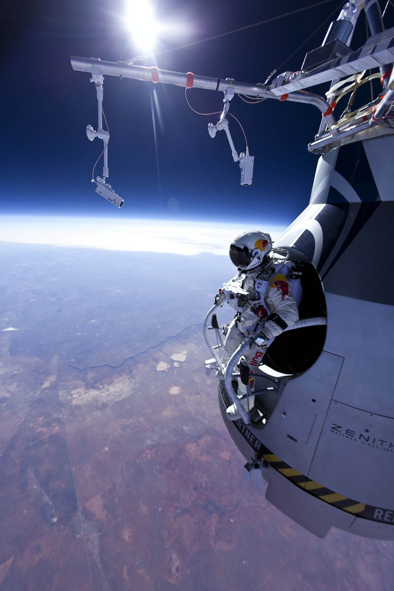 felix baumgartner jumps 71580 ft red bull stratos 1 The Top 100 Pictures of the Day for 2012