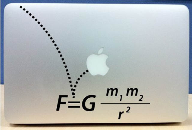 gravity macbook decal sticker 50 Creative MacBook Decals and Stickers