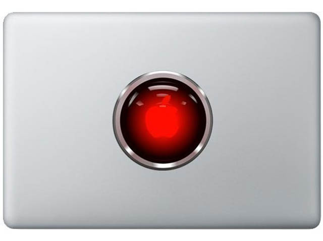 hal macbook decal sticker 50 Creative MacBook Decals and Stickers