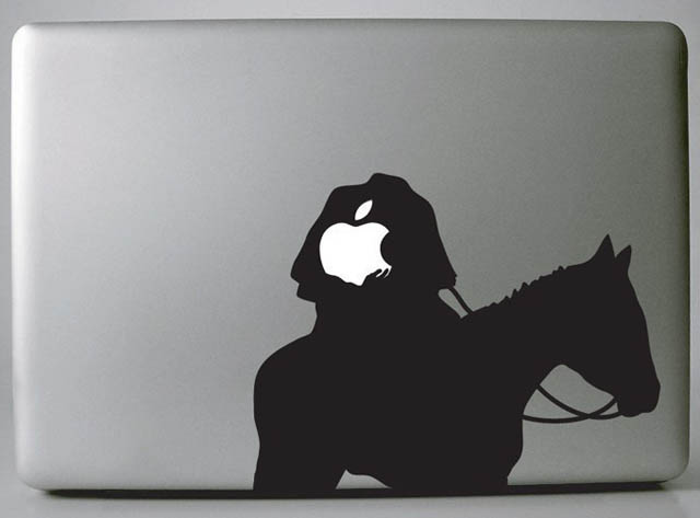 headless horseman macbook decal sticker 50 Creative MacBook Decals and Stickers