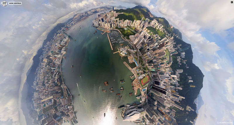 hong kong 360 panorama aerial from above 3 Top Ten 360 Panoramas of Cities Around the World
