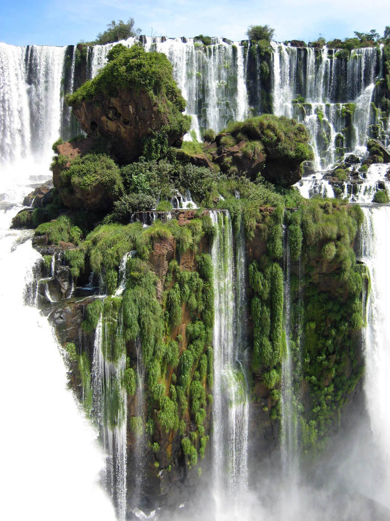iguazu falls waterfall island Picture of the Day: The Waterfall Island at Iguazu Falls