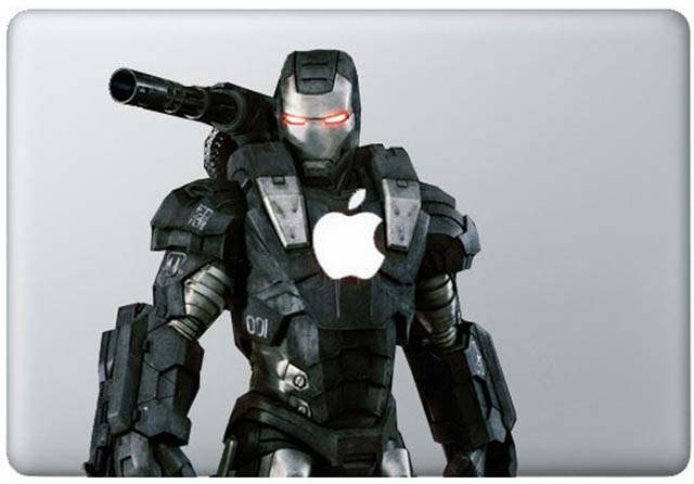 iron man macbook decal sticker 2 50 Creative MacBook Decals and Stickers