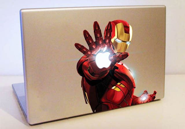 iron man macbook decal sticker 50 Creative MacBook Decals and Stickers