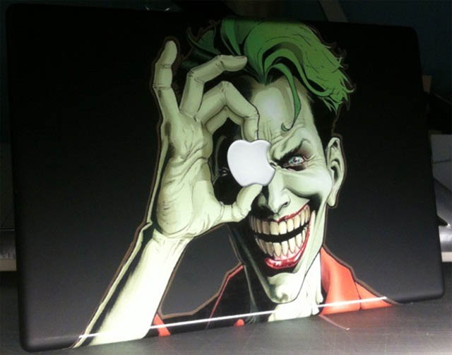 joker macbook decal sticker 1 50 Creative MacBook Decals and Stickers