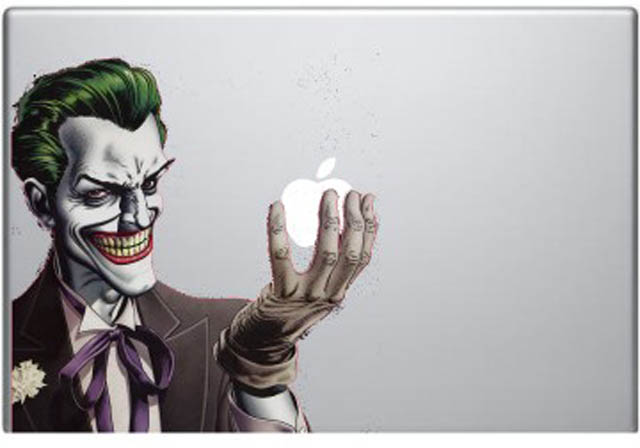 joker macbook decal sticker 2 50 Creative MacBook Decals and Stickers