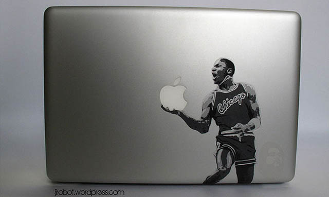jordan macbook decal sticker 50 Creative MacBook Decals and Stickers