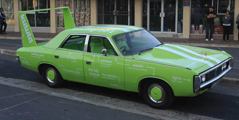 kulula green branded car driving 101 1 This Airline has the Best Fleet of Planes Ever!