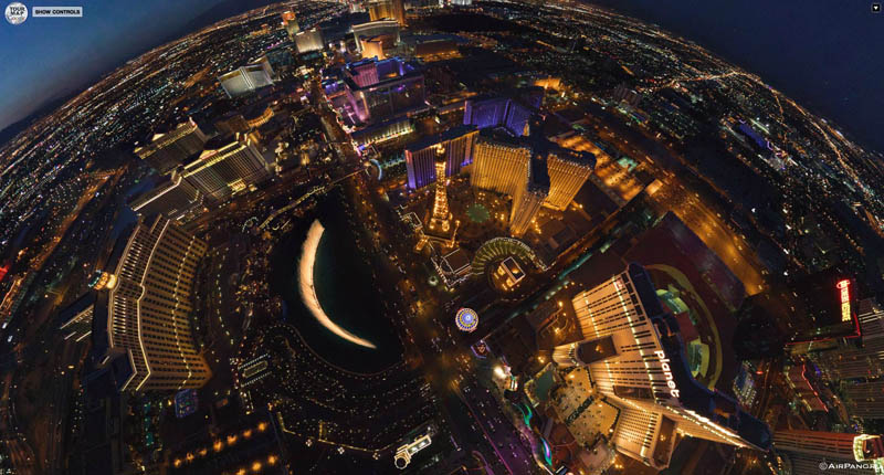 las vegas from above aerial panorama 1 Top Ten 360 Panoramas of Cities Around the World