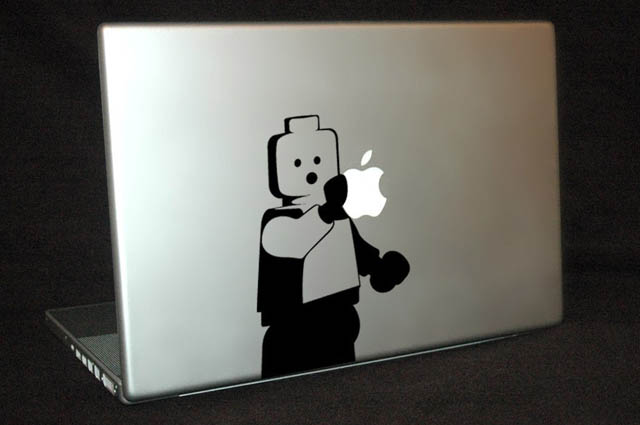 lego man macbook decal sticker 50 Creative MacBook Decals and Stickers