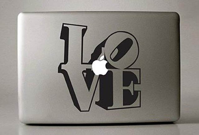 love macbook decal sticker 50 Creative MacBook Decals and Stickers