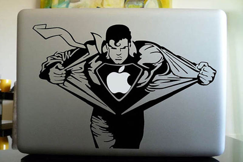 superman macbook decal sticker 50 creative ways to repurpose reuse and upcycle old things - Reuse Repurpose
