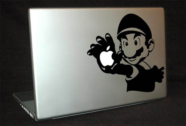mario macbook decal sticker 50 Creative MacBook Decals and Stickers