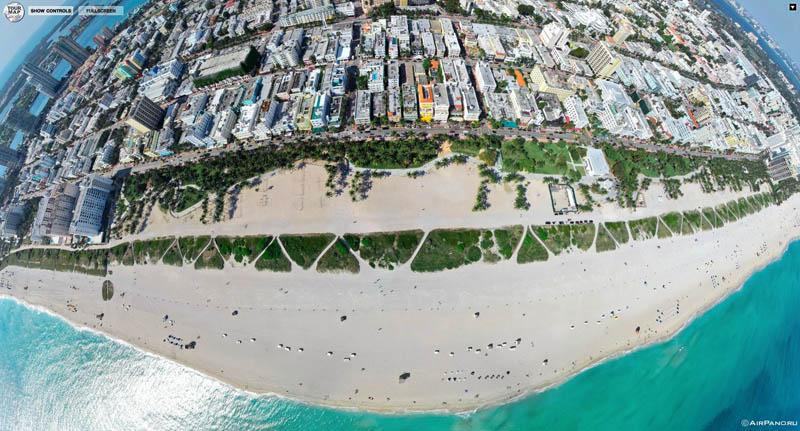 miami florida from above aerial panorama 2 Top Ten 360 Panoramas of Cities Around the World