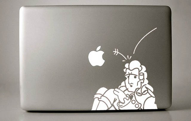 newton macbook decal sticker 50 Creative MacBook Decals and Stickers