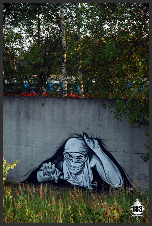 pavel p183 street art russian banksy banksi 14 16 Fresh Pieces by Russian Street Artist P183