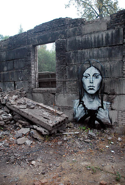 pavel p183 street art russian banksy banksi 24 16 Fresh Pieces by Russian Street Artist P183