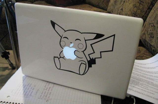 pikachu macbook decal sticker 50 Creative MacBook Decals and Stickers